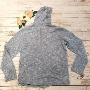 Hurley Tops - Hurley Blue-Gray Heathered Terry Pullover Hoodie